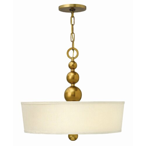 Large Foyer Drum Pendant : Zelda light foyer drum pendant wayfair