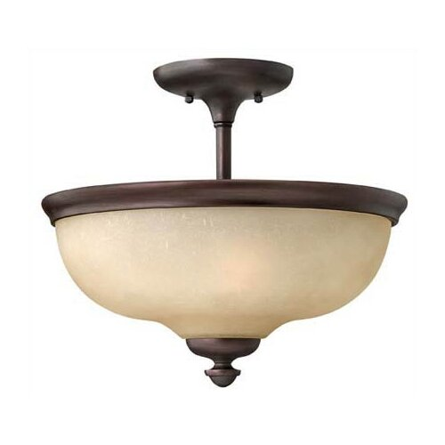 Thistledown 3 Light Semi Flush Mount Foyer
