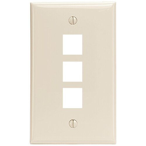 Leviton QuickPort 3 Port Wall Plate in Light Almond