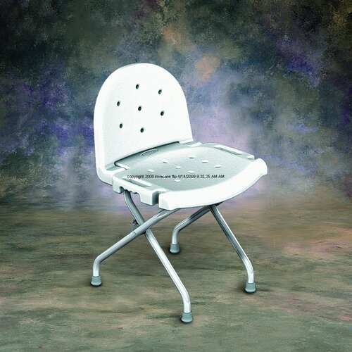 Invacare Folding Shower Chair with Back