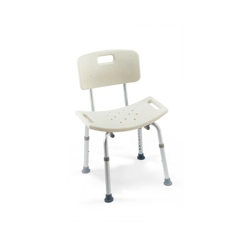 Two Care Guard Tool-Less Shower Chair With Back (Set of 2)