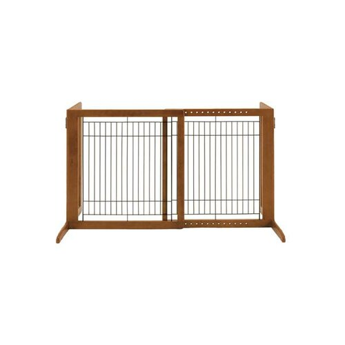 Tall Wooden Freestanding Pet Gate