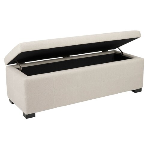 Beige Bedroom Storage Ottoman