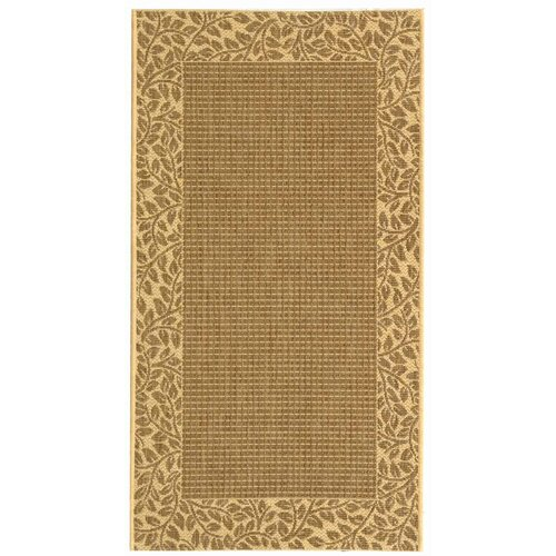 Safavieh Courtyard Brown / Natural Outdoor Rug
