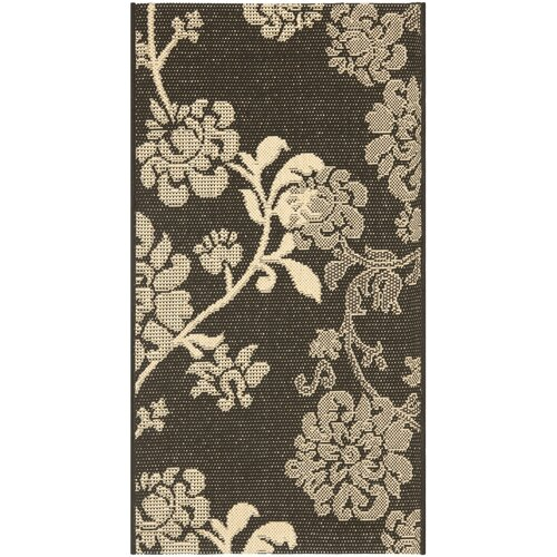Safavieh Courtyard Black Natural/Brown Outdoor Rug