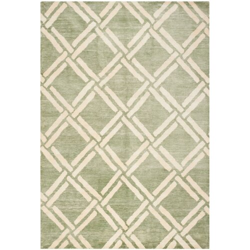 Moroccan Green/Ivory Rug