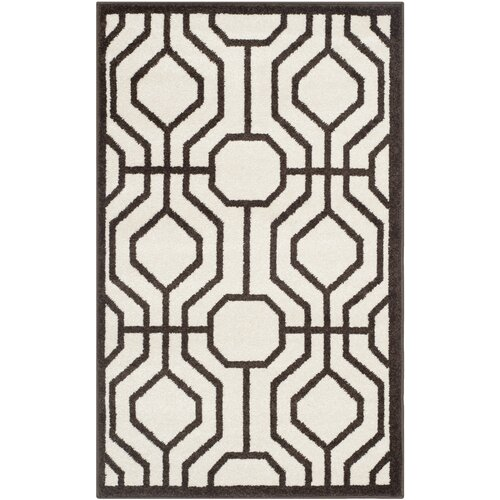 Amherst Ivory / Brown Outdoor Rug