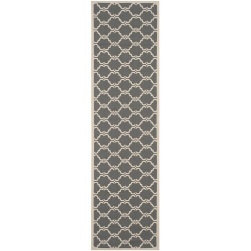 Courtyard Anthracite / Beige Geometric Contemporary Rug