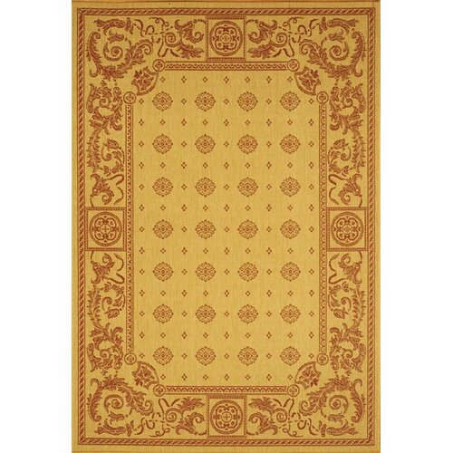 Courtyard Beige/Red Outdoor Rug