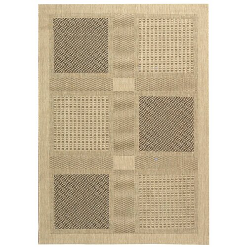 Safavieh Courtyard Sand/Black Outdoor Rug