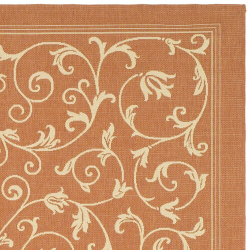Safavieh Courtyard Terracotta/Natural Persian Outdoor Rug