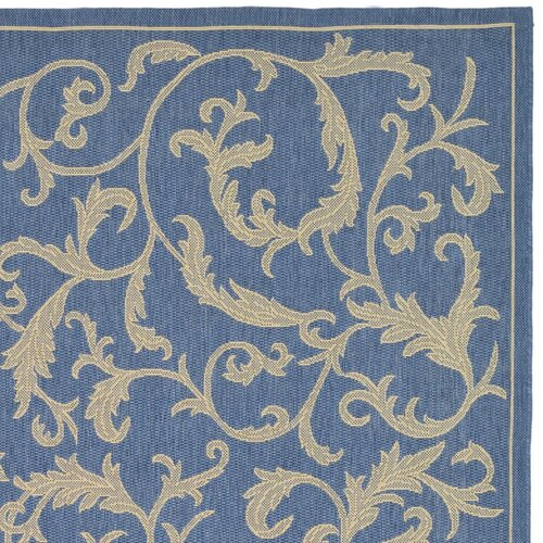 Safavieh Courtyard Blue/Natural Persian Outdoor Rug