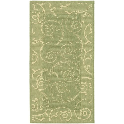 Safavieh Courtyard Olive/Natural Outdoor Rug