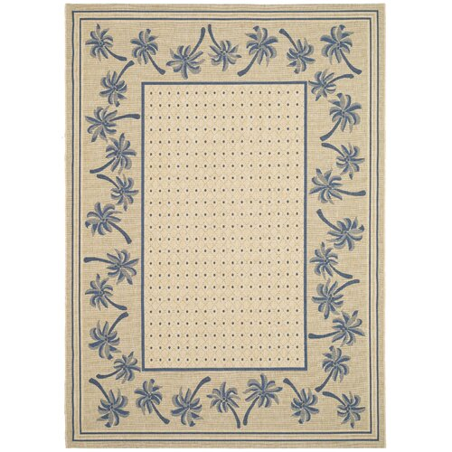 Safavieh Courtyard Ivory/Blue Outdoor Rug