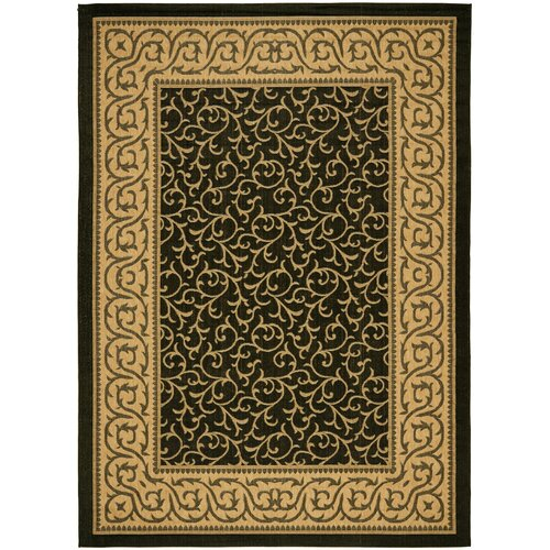 Safavieh Courtyard Black/Natural Outdoor Rug