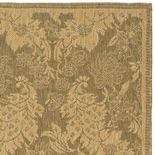 Safavieh Courtyard Light Gold Outdoor Rug