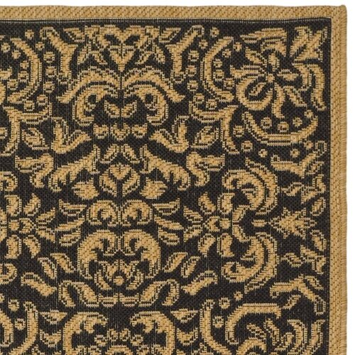 Safavieh Courtyard Dark Black Outdoor Rug