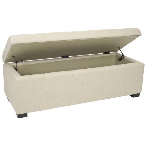safavieh beige bedroom storage ottoman reviews wayfair. Black Bedroom Furniture Sets. Home Design Ideas
