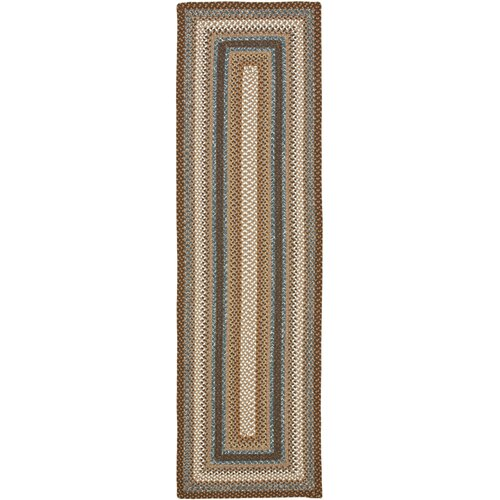 Safavieh Braided Brown/Multi Rug