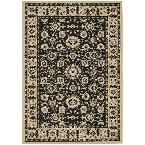 Courtyard Creme / Black Outdoor Rug