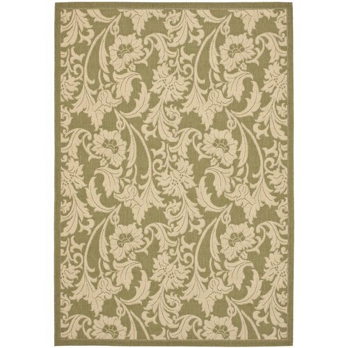 Safavieh Courtyard Green/Crème Outdoor Rug