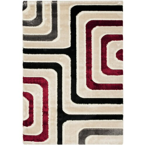 Safavieh Miami Shag Beige/Multi Maze Rug