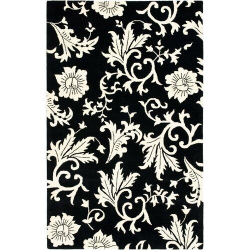 Soho Black/Ivory Floral Rug