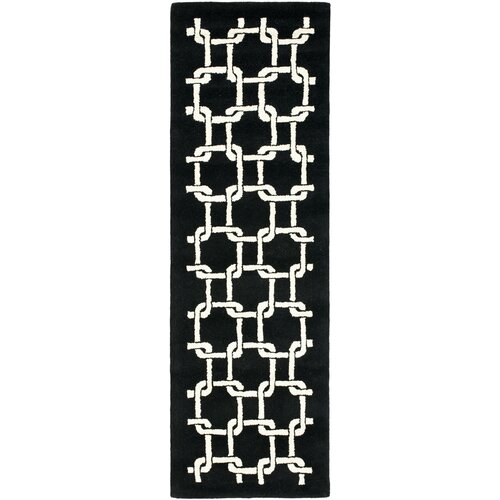 Soho Black White Geometric Area Rug Wayfair