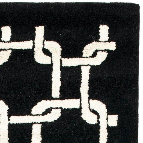 Black And White Geometric Kitchen Rug: Soho Black/White Geometric Area Rug