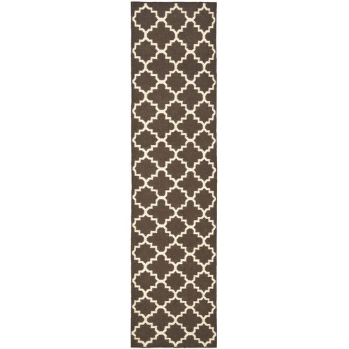 Safavieh Dhurries Brown/Ivory Area Rug