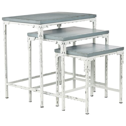 Safavieh Clark 3 Piece Nesting Tables