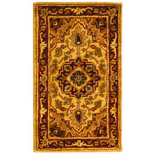 Classic Light Gold / Red Rug