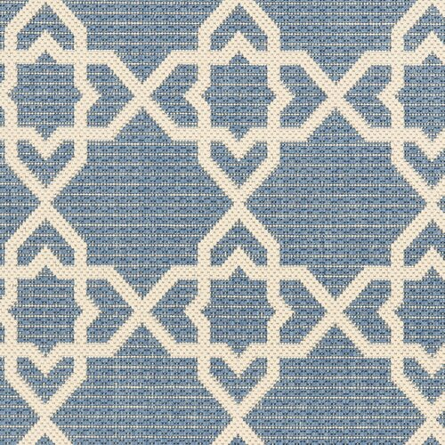 Safavieh Courtyard Blue/Beige Indoor/Outdoor Rug