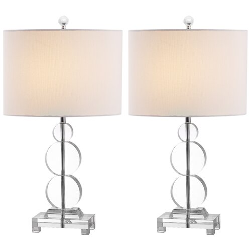 """Safavieh Moira 23"""" H Table Lamp with Drum Shade"""
