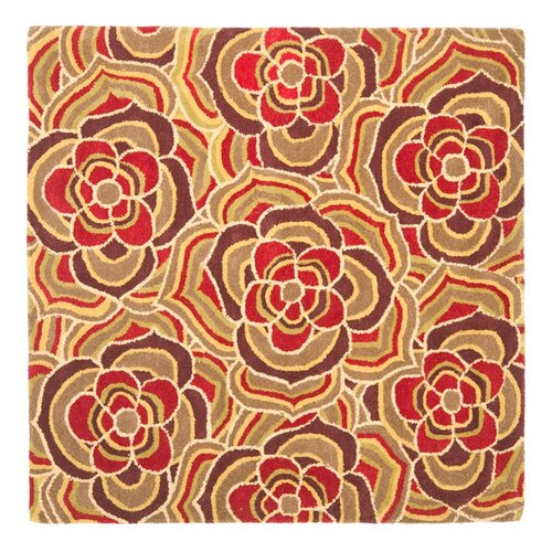 Safavieh Blossom Beige/Red Multi Rug
