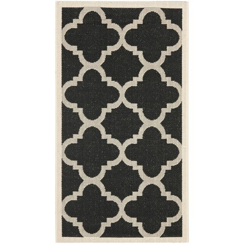Safavieh Courtyard Black/Beige Indoor/Outdoor Rug