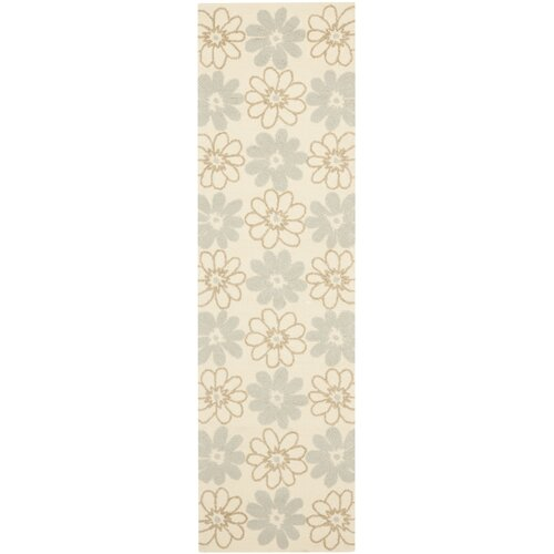 Four Seasons Ivory / Light Blue Outdoor Rug