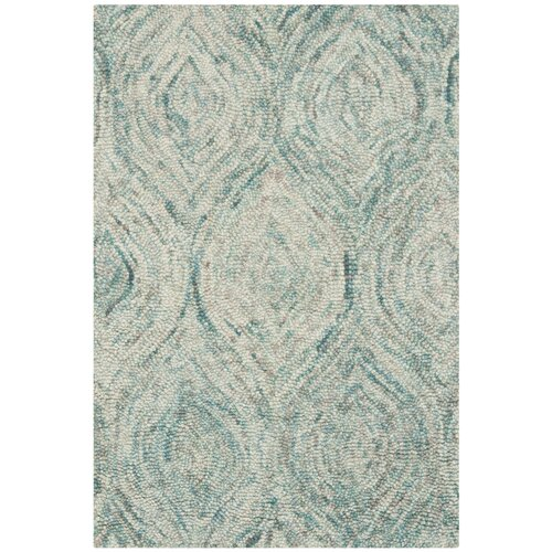 Safavieh Ikat Ivory / Sea Blue Rug