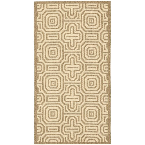 Safavieh Courtyard Brown/Natural Geometric Outdoor Rug