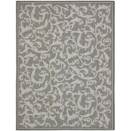 Safavieh Courtyard Anthracite/Light Grey Indoor/Outdoor Rug