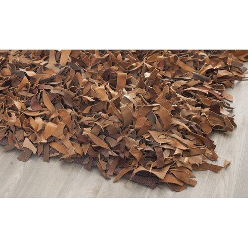 Safavieh Leather Shag Brown Rug