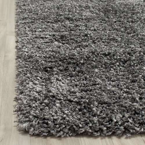 Safavieh Shag Dark Grey Area Rug u0026 Reviews : Wayfair