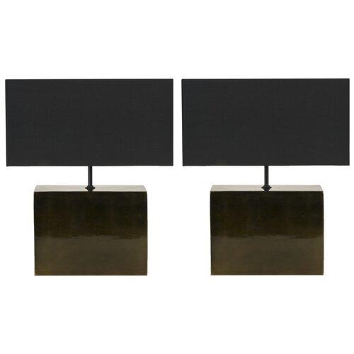 brushstroke 16 1 h table lamp with rectangular shade set of 2. Black Bedroom Furniture Sets. Home Design Ideas
