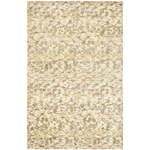 Martha Stewart Abstract Trellis Wheat F Beige B Rug