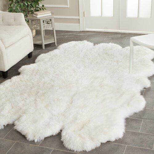 Safavieh Faux Sheepskin Rug: Safavieh Sheepskin White Area Rug & Reviews