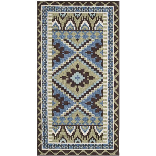 Safavieh Veranda Green / Chocolate Rug