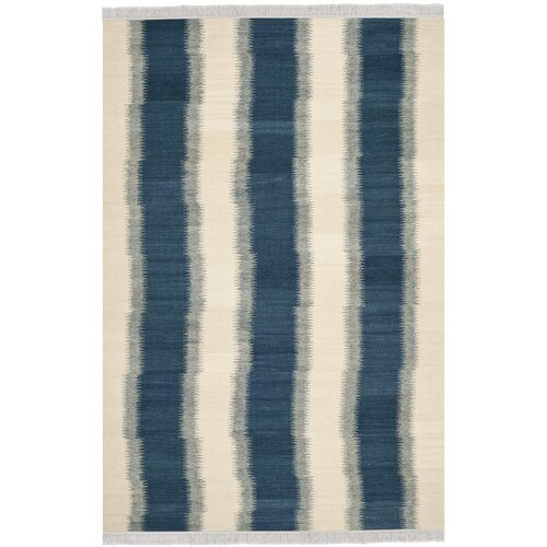 Safavieh Navajo Kilim Blue /Ivory Outdoor Area Rug