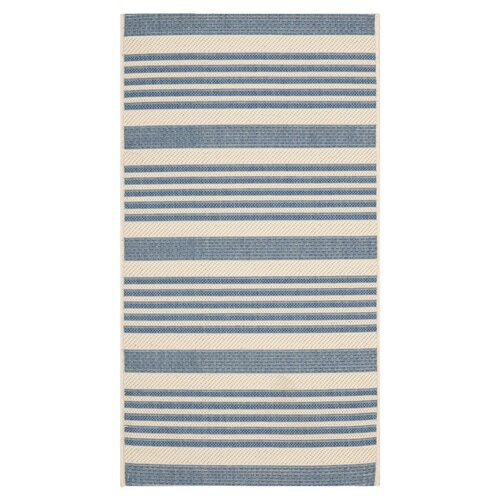 Safavieh Courtyard Beige/Blue Indoor/Outdoor Rug