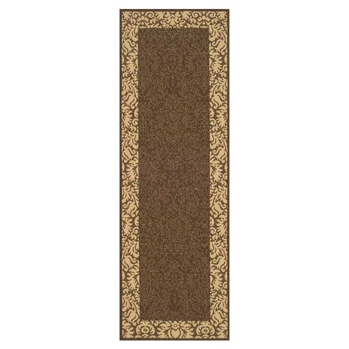 Safavieh Courtyard Blossom Bordered Outdoor Rug