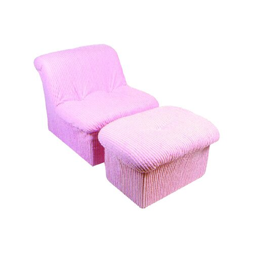 Fun Furnishings Chenille Teen Cloud Chair and Ottoman Set